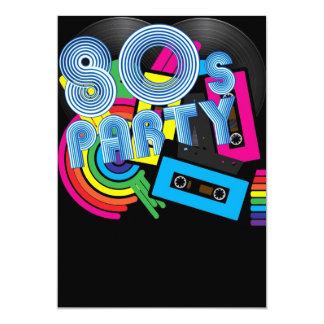 80 Retro Party Card