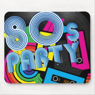 80 Retro Party Mouse Pad