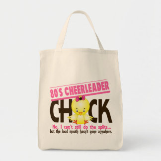 80's Cheerleader Chick Grocery Tote Bag