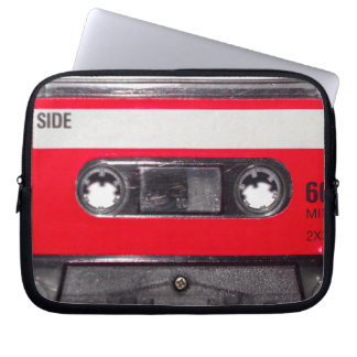 80 s Red Label Cassette Laptop Sleeves