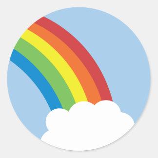 80 s Retro Rainbow Stickers