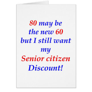 80 Senior Citizen Greeting Cards