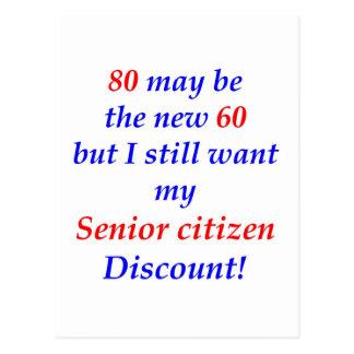 80 Senior Citizen Postcard
