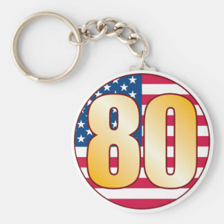 80 USA Gold Key Ring