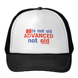 80 year old birthday designs cap
