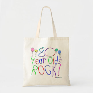 80 Year Olds Rock ! Budget Tote Bag