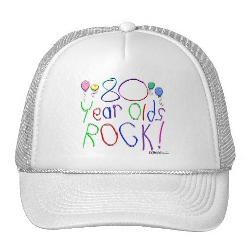 80 Year Olds Rock ! Hats