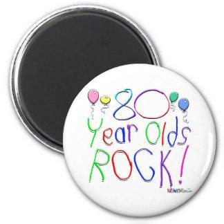 80 Year Olds Rock ! Fridge Magnets