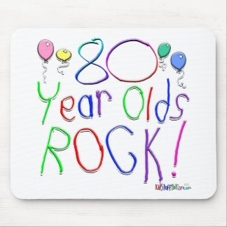 80 Year Olds Rock Mouse Mats