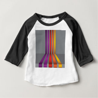 80Colorful Lines_rasterized Baby T-Shirt
