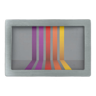 80Colorful Lines_rasterized Belt Buckles