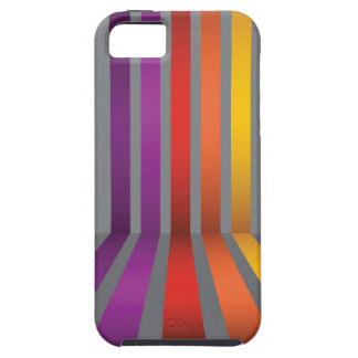 80Colorful Lines_rasterized Tough iPhone 5 Case