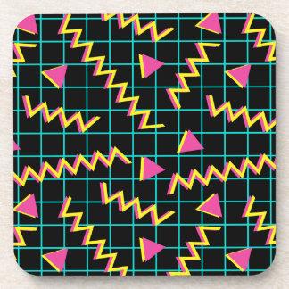 80's/90's Black & Neon Pattern Coaster