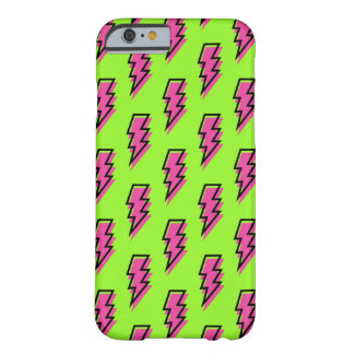 80's/90's Neon Green & Pink Lightning Bolt Pattern Barely There iPhone 6 Case