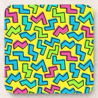 80's/90's Retro Neon Pattern Coaster