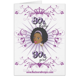 80s Baby 90s girl Greeting Cards