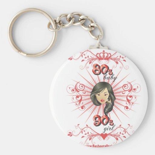 80s Baby 90s girl Key Chain