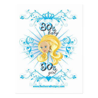 80s Baby 90s girl Postcard