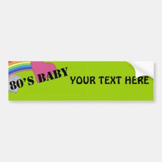 80's Baby Bumper Sticker