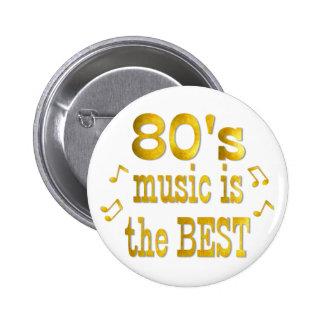 80s Best 6 Cm Round Badge
