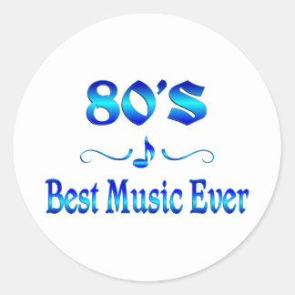 80s Best Music Round Sticker