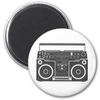 80s Boombox 6 Cm Round Magnet