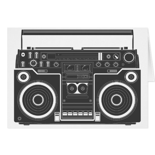80s Boombox Cards