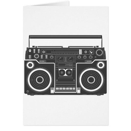 80s Boombox Greeting Card
