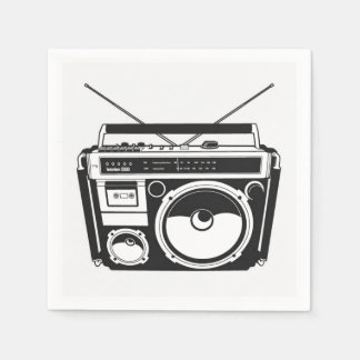 80s Boombox Paper Napkin