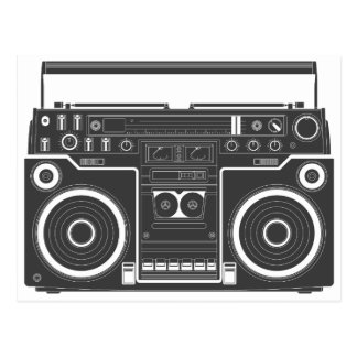 80s Boombox Post Card
