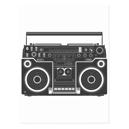 80s Boombox Post Card