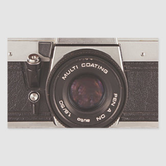 80's camera rectangle stickers