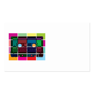80's Cassette Color Blocks Double-Sided Standard Business Cards (Pack Of 100)