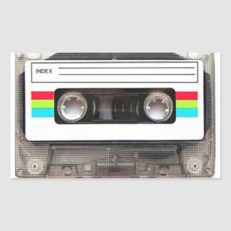 80's Cassette Tape Rectangular Sticker