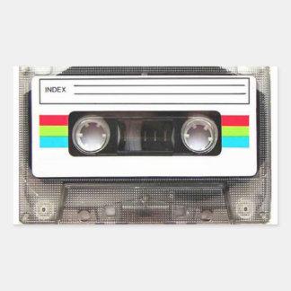 80's Cassette Tape Rectangular Sticker
