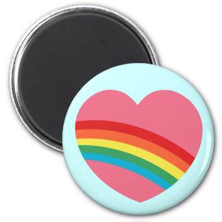 80s Chunky Rainbow Heart Magnet Fridge Magnet