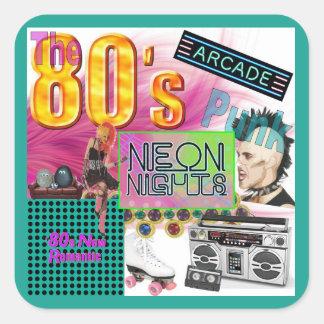 80s Collage Square Sticker