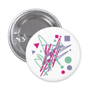80s design eighties vintage splash medley art 3 cm round badge