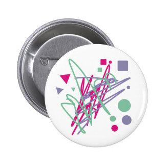 80s design eighties vintage splash medley art 6 cm round badge