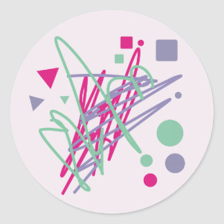 80s design eighties vintage splash medley art round sticker