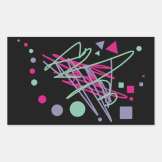 80s design eighties vintage splash medley art rectangular sticker