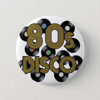 80s disco vinyl records 6 cm round badge