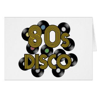 80s disco vinyl records card