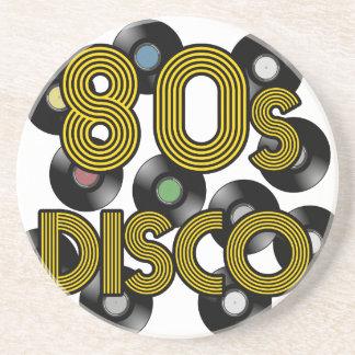 80s disco vinyl records coaster