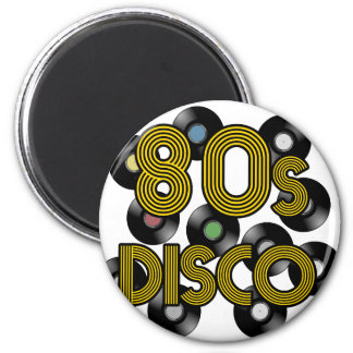80s disco vinyl records magnet