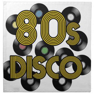 80s disco vinyl records napkin