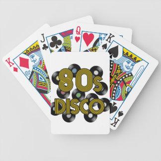 80s disco vinyl records poker deck