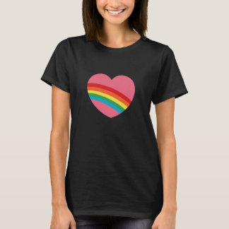 80s Eighties Rainbow Heart T-Shirt