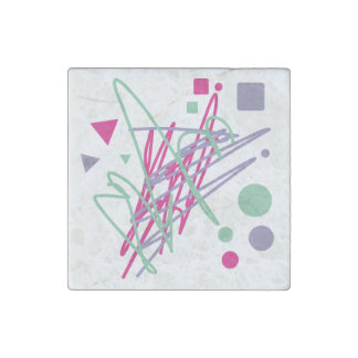 80s eighties vintage colors splash medley art girl stone magnet