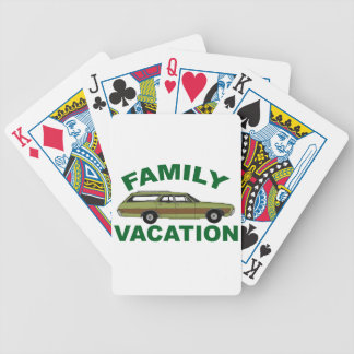 80s Family Vacation Bicycle Playing Cards